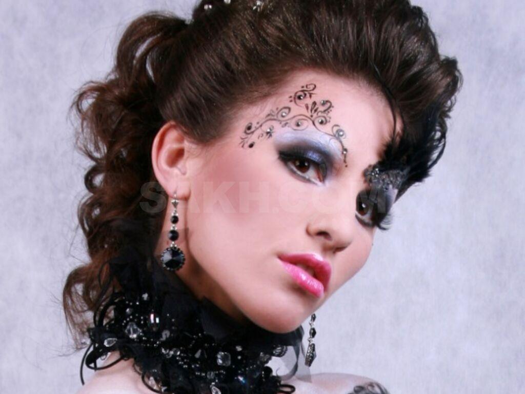 профессиональный подход макияж с узорами фото его