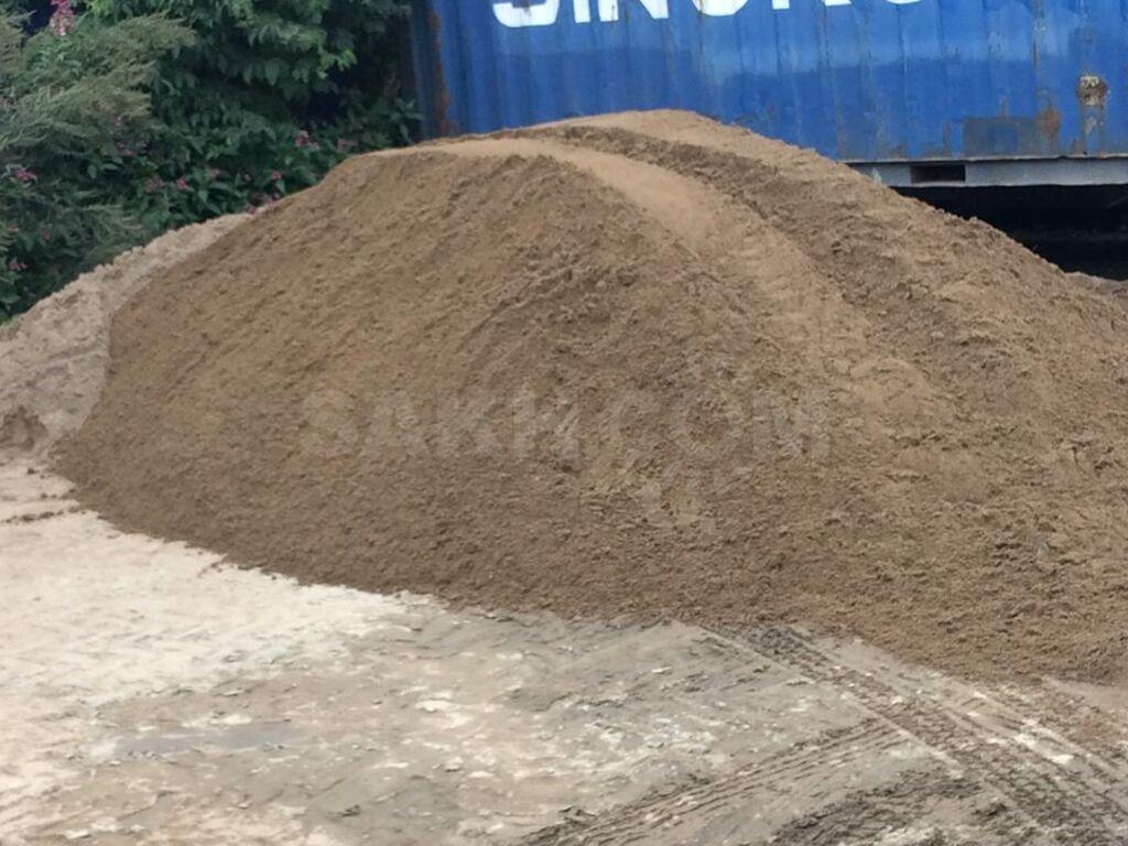 20 тонн песка в кубах