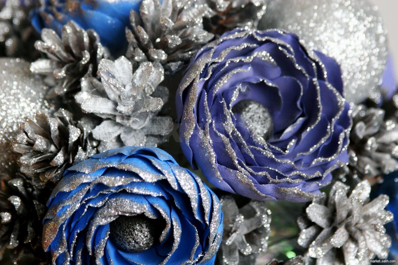 Цветов краснодар, новогодний букет снежная королева фото