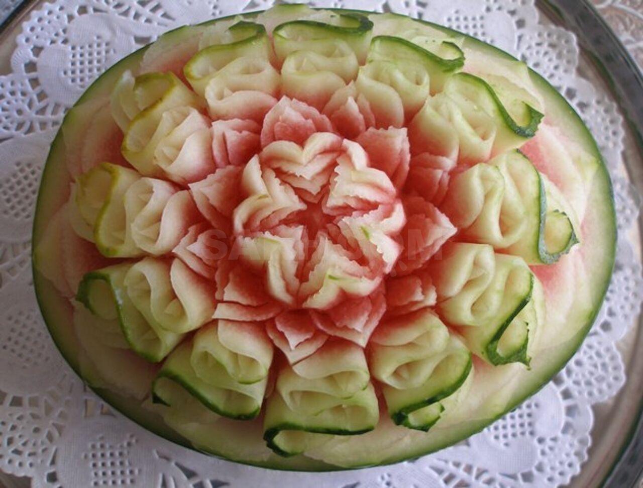 рисунки на арбузах фото
