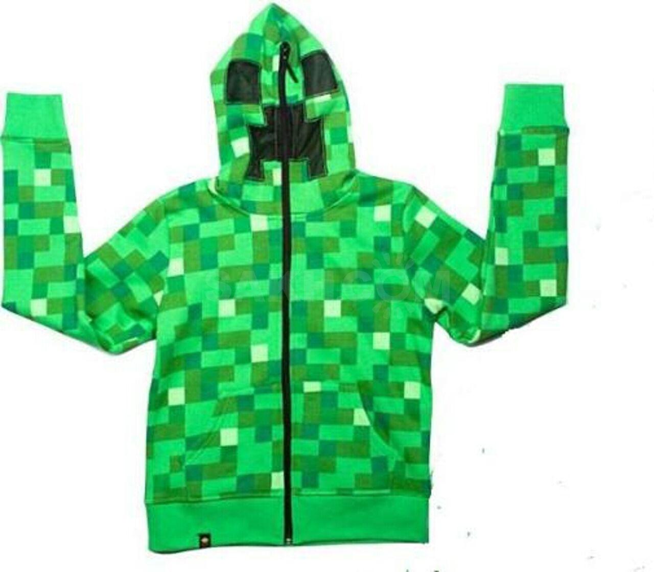 Толстовки майнкрафт купить зелёные алматы