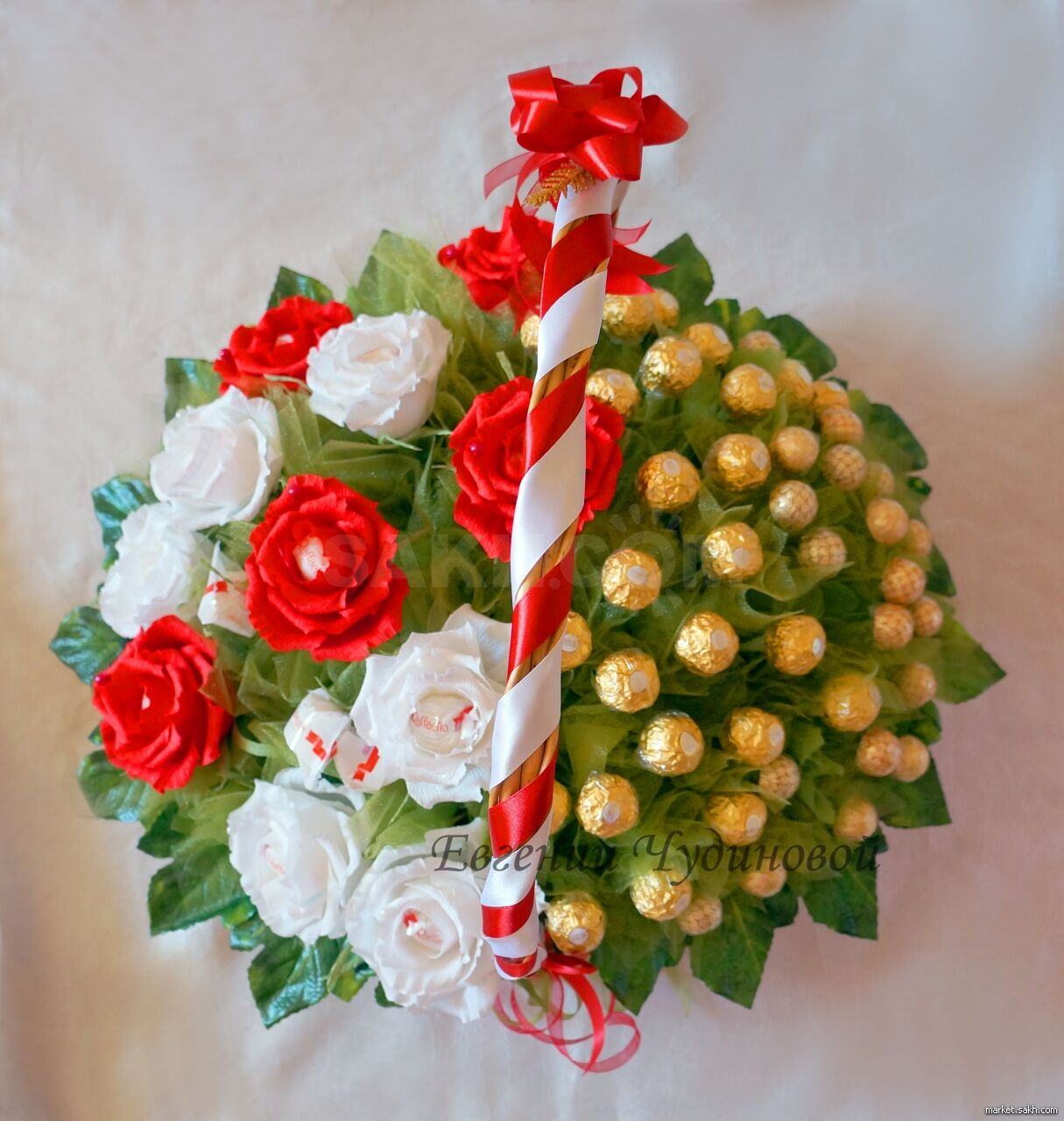 Конфетный букет на день учителя, цветов сочи букеты