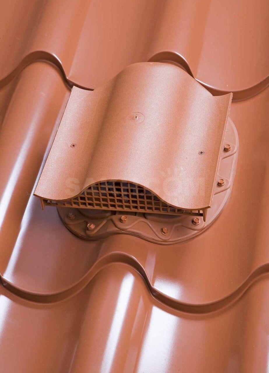 как установить вентиляционный выход на металлочерепицу