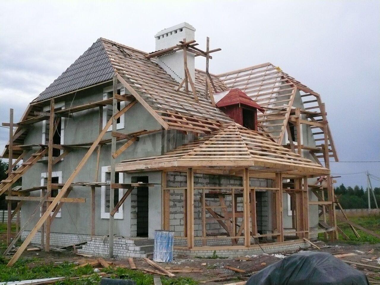 дом из пеноблоков крыша