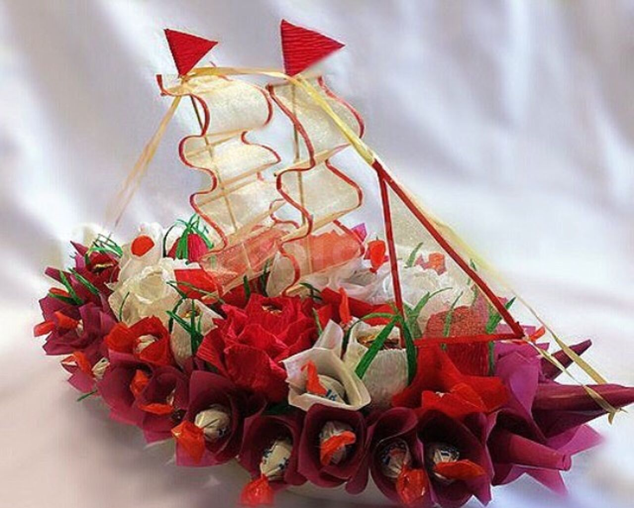 многие букет из конфет картинки с днем рождения красивые