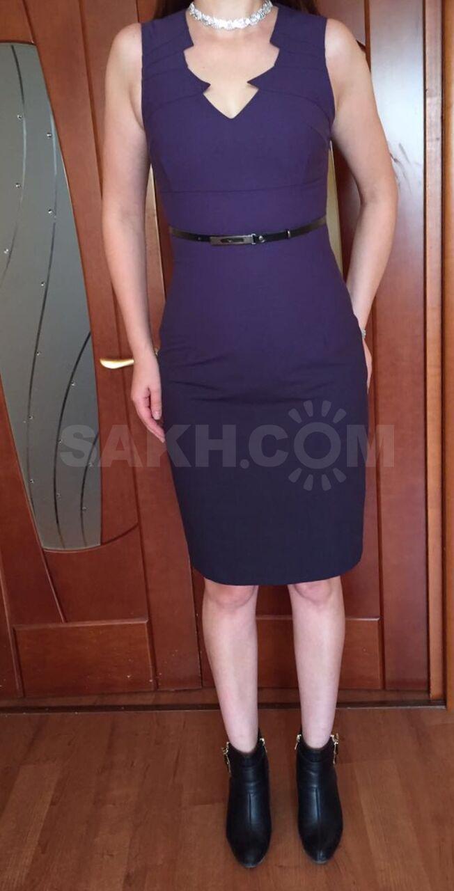 c093156d523 Стильное классическое платье 42-44 - 1800 руб. Одежда