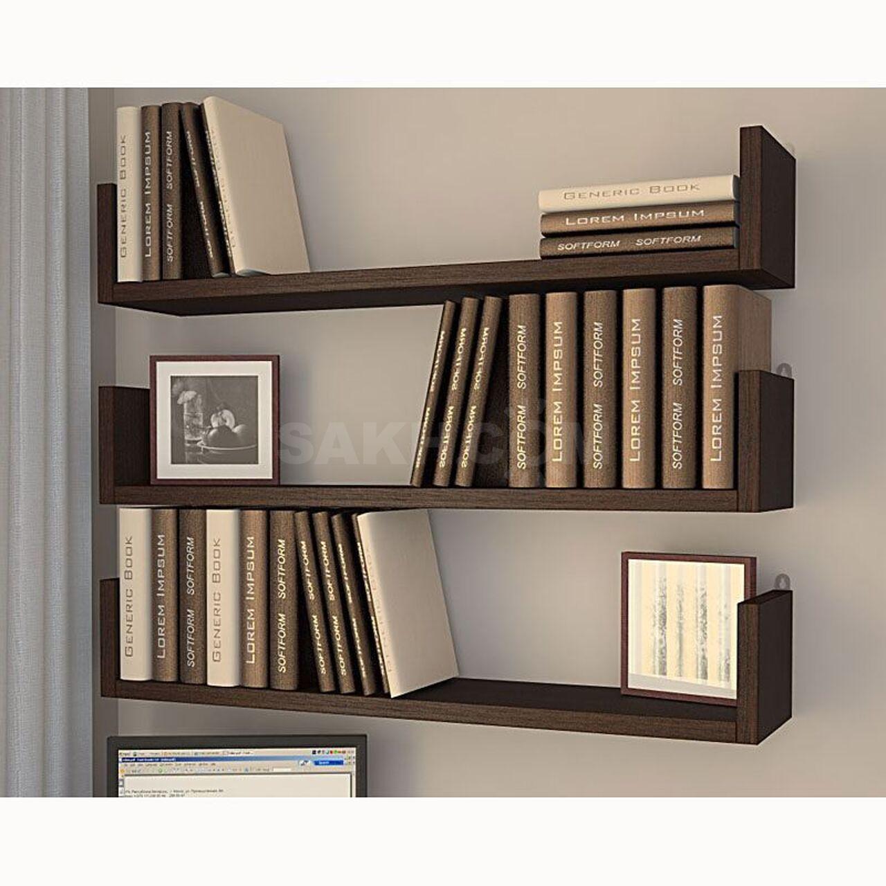 Книжные стеллажи настенные фото