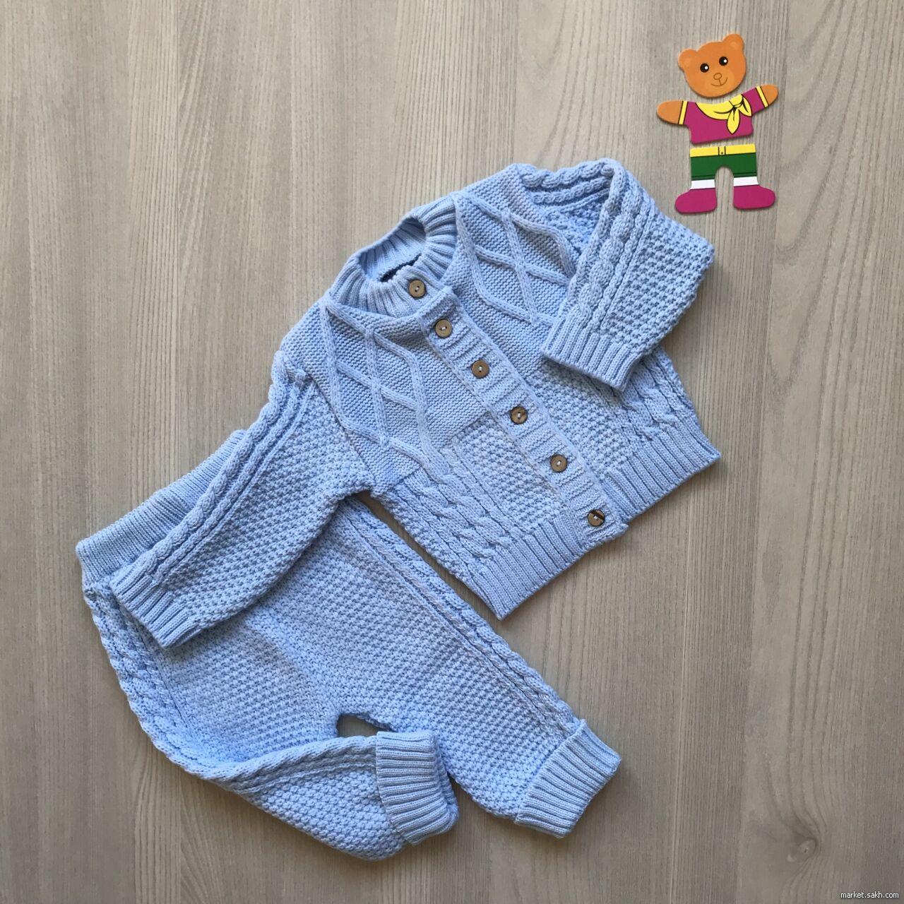 костюм детский вязаный тёплый 960 руб дети и материнство детская
