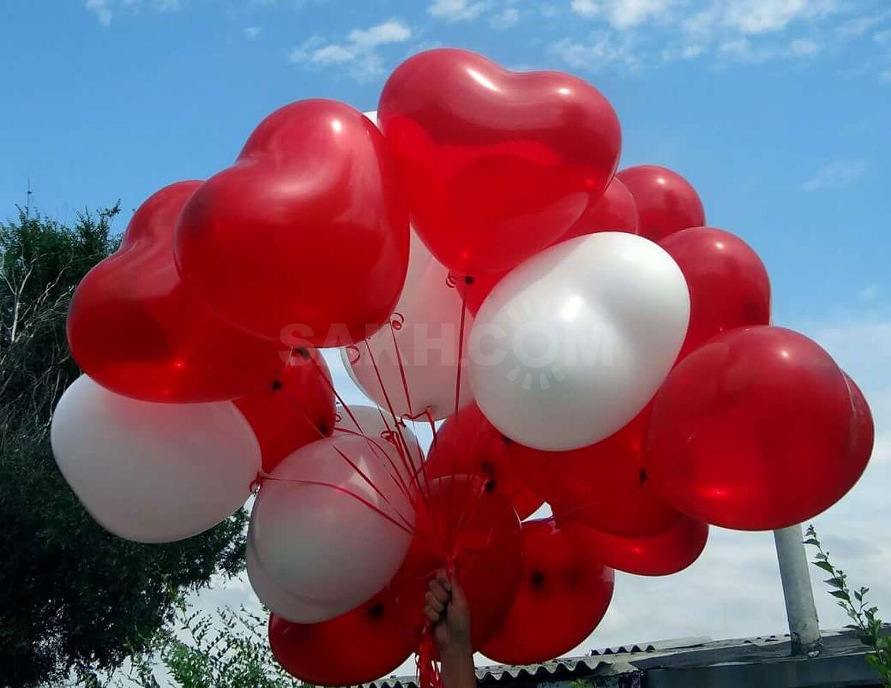 зиме фото воздушных шариков сердец первое