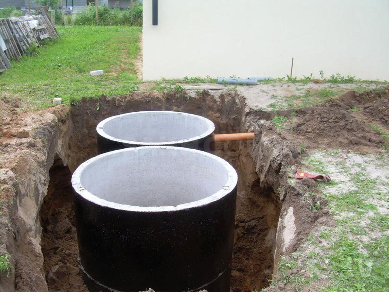 установка колец жби для канализации