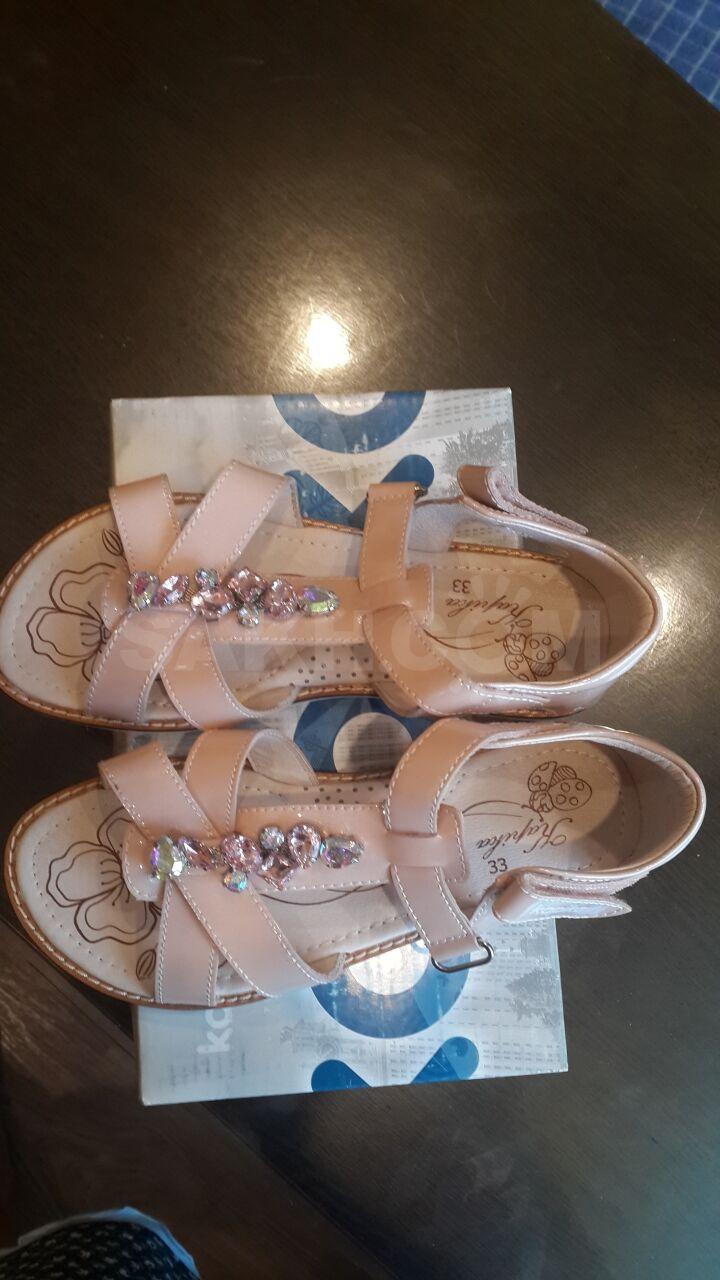 4b3135cb1 Продам очень красивые новые кожаные босоножки 33 размера для девочки фирмы  Капика,на липучке.Цвет как на картинке нежно розовый.Причина продажи-за  время ...