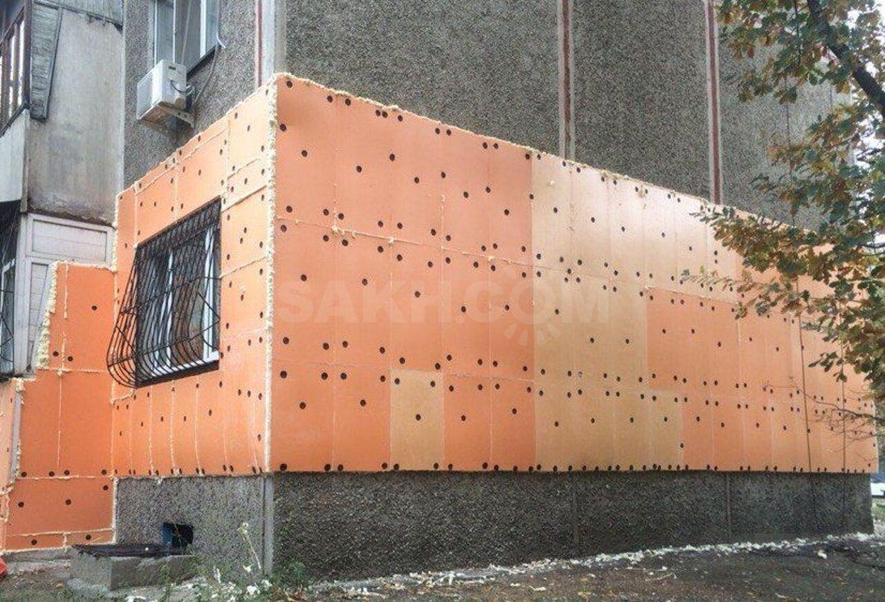 утепление пенополистиролом фасадов дома