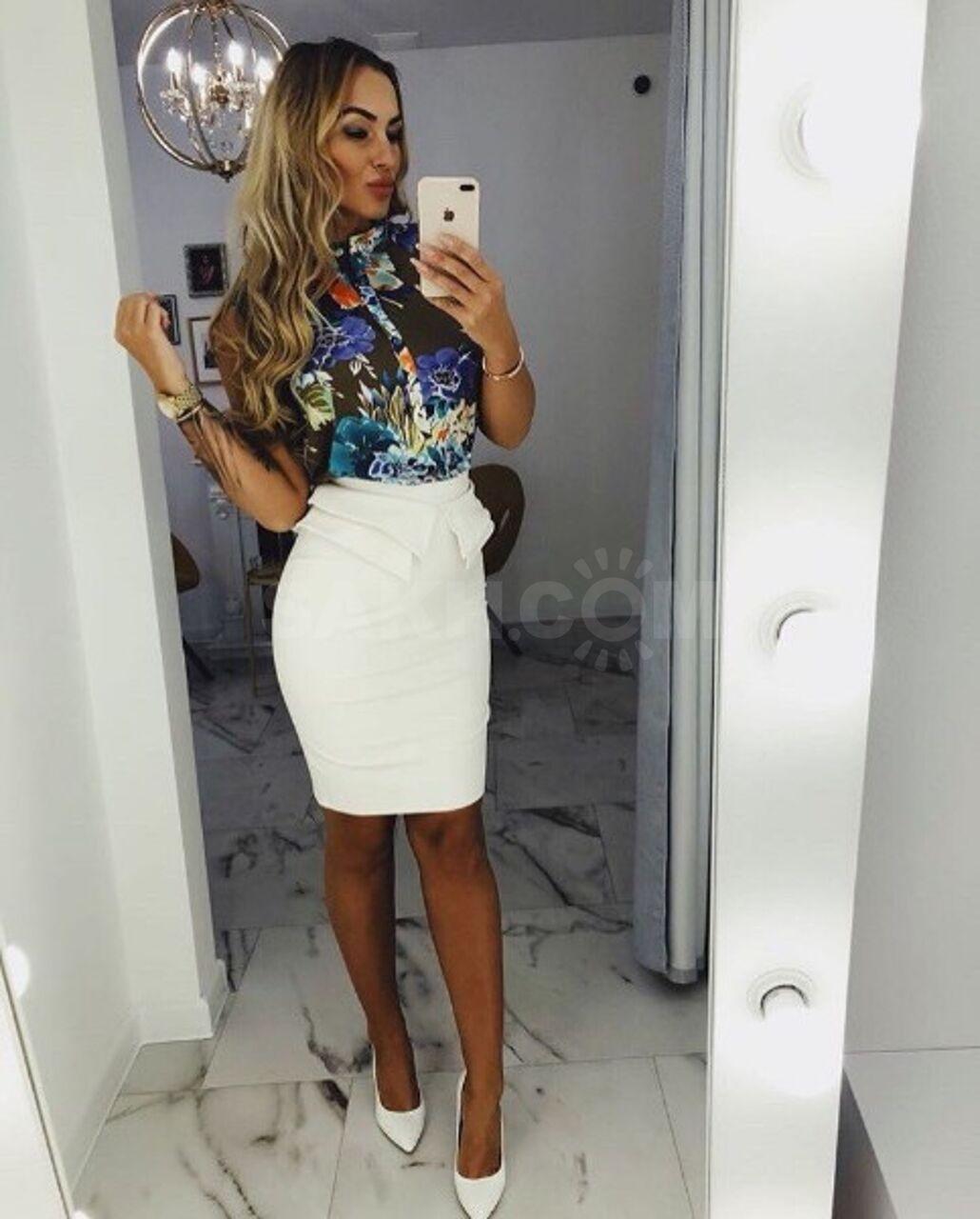 11fd84408f1 Белая юбка с баской - 3500 руб. Одежда