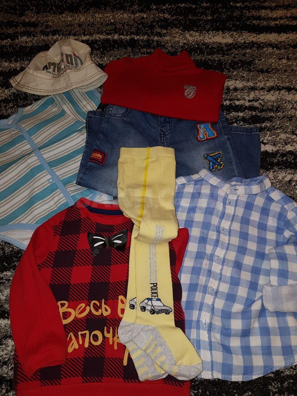 f0ac43639 Продам детские вещи на мальчика, возраст 1-1.5, все в идеальном  состоянии!(Боди, колготки и панама новые, кофты использовались для  фото)1000 руб.