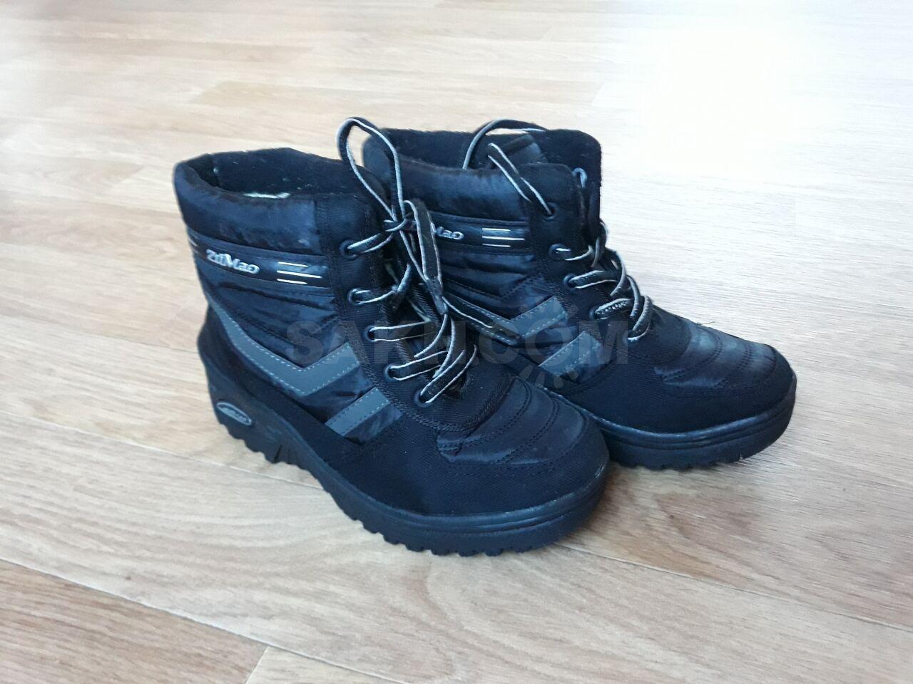 6993b38d Очень тёплые зимние высокие ботинки на мальчика, в отличном состоянии!  Подойдут на высокий подъём и на широкую ногу. Размер 25,5 (38-39).