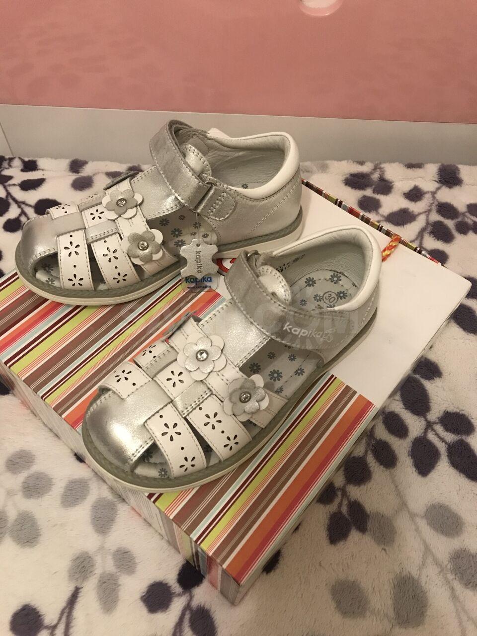 74fe88fe4 Продам новые кожаные сандали для девочки. Фирмы Капика Размер:30. Цена:600  рублей