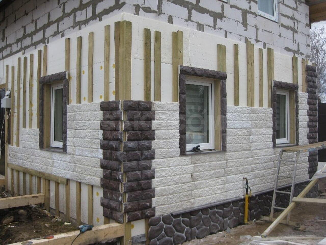 чем утеплить фасад дома из пеноблоков