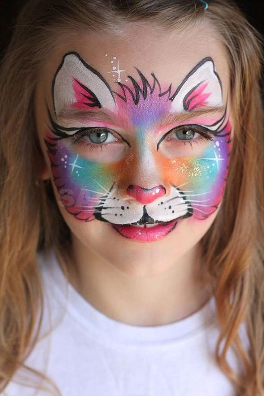 Картинки для аквагрима кошка