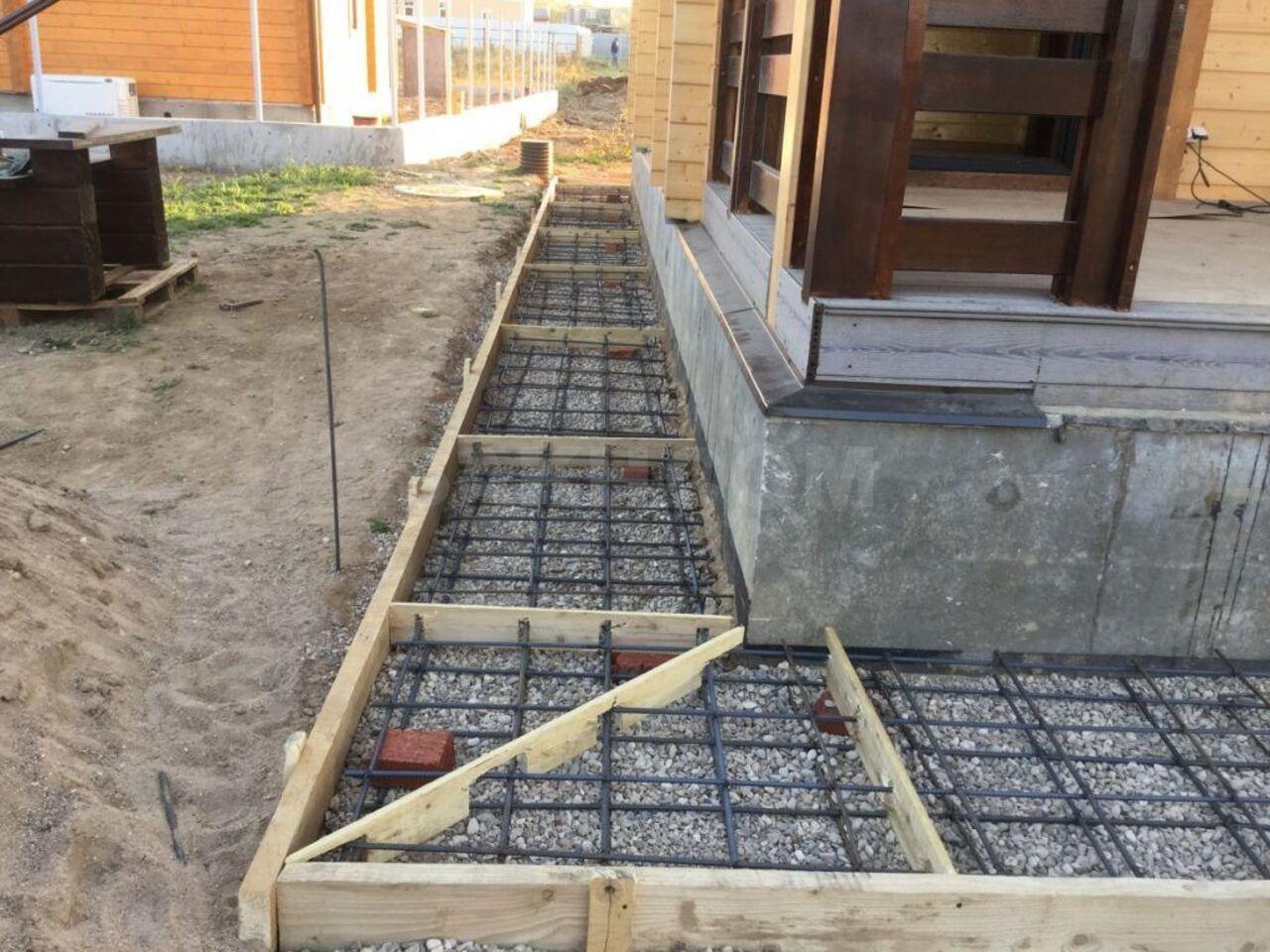 укладка отмостки из бетона