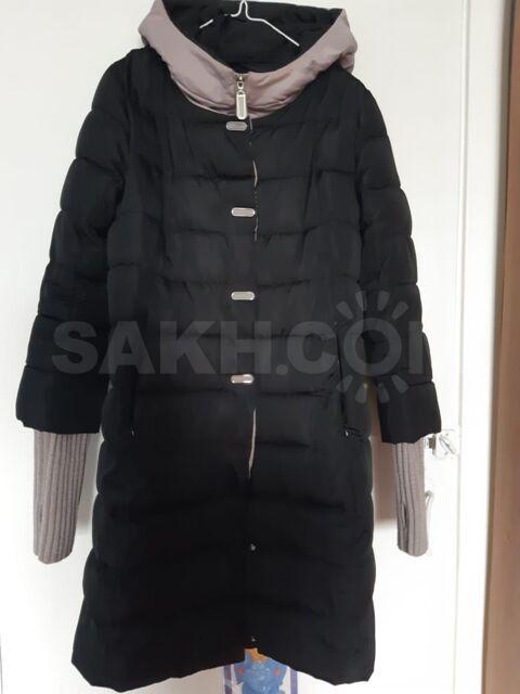 Пальто пуховое - 1500 руб. Одежда, обувь и аксессуары. Женская одежда. Верхняя одежда. Пальто. Пальто в Охае. Объявления Сахалина