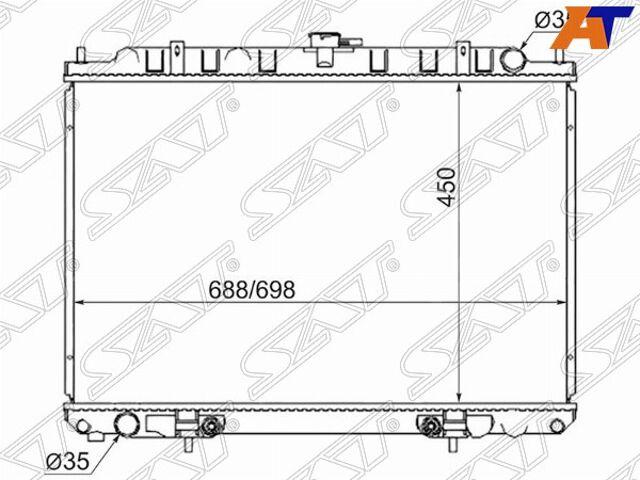 Радиатор NISSAN RNESSA(SR20)/PRESAGE KA24/X-TRAIL YD22 00-07/LIBERTY/P
