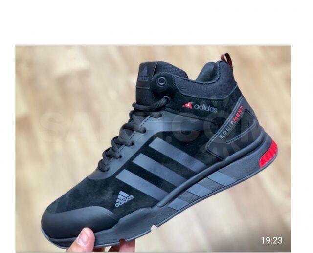 Зимние кроссовки Adidas Equipment - 5500 руб. Одежда, обувь и аксессуары. Мужская обувь. Мужская обувь в Южно-Сахалинске. Объявления Сахалина