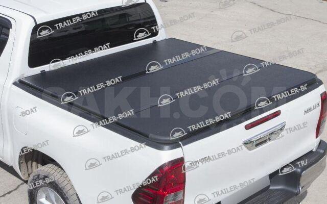 Жесткая трехсекционная крышка для пикапа Toyota Hilux 2015-2020