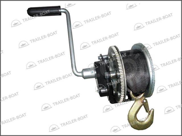 Лебедка барабанная ручная для прицепа с автостопом Rock, 681 кг