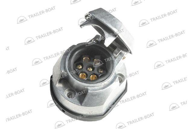 Алюминиевая розетка электрическая 7-и контактная, европейская