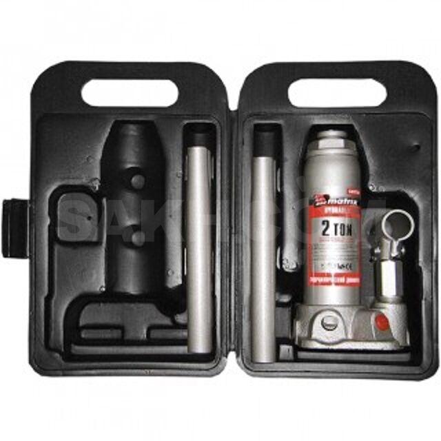 Домкрат гидравлический бутылочный, 2 т, h подъема 181–345 мм, в пласт.