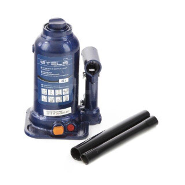 Домкрат гидравлический бутылочный телескопический, 4 т, подъем 170-420