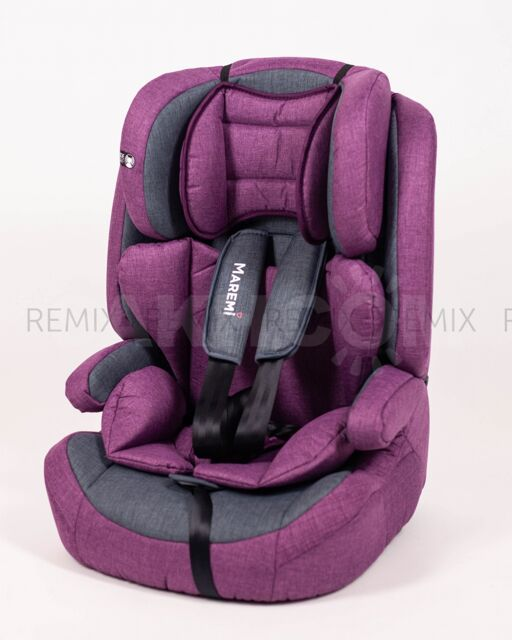 Автокресло 9-36 кг MAREMI GJ999 Серый/пурпурный
