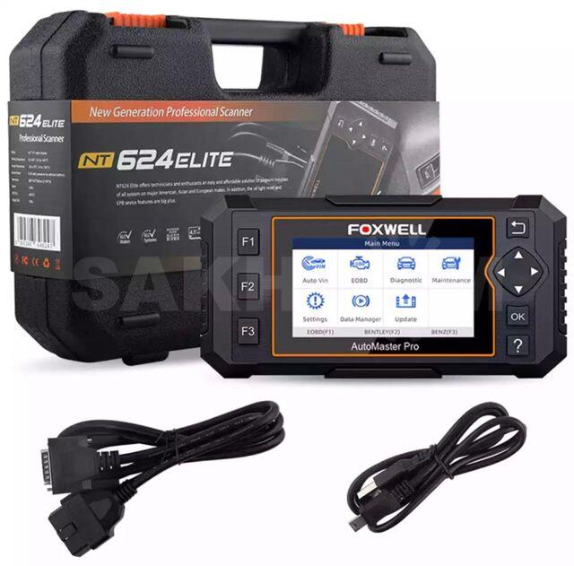 Проф мультимарочный сканер для всех блоков Foxwell NT624 Elite