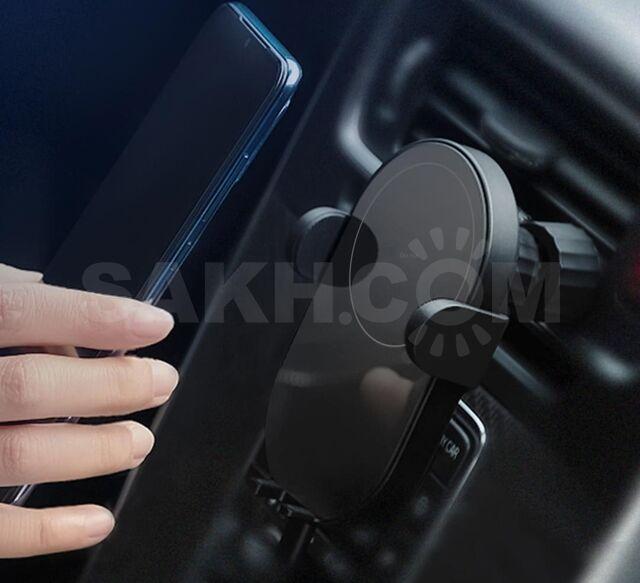 Держатель автомобильный сенсорный с беспроводной зарядкой 10W