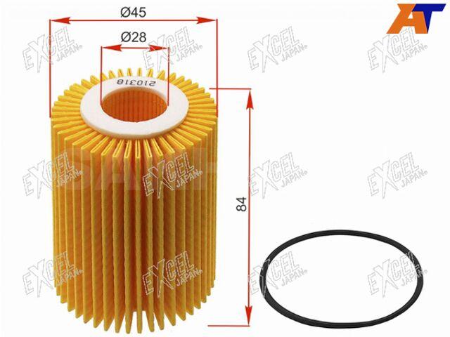 Фильтр масляный (картридж) LEXUS IS250,GS# 3GR-FE, 2-4,5GR-FSE, 2AD-FT