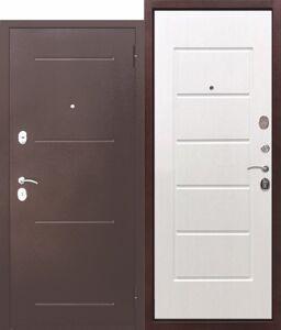 Дверь входная Гарда Муар, 210х86 см, Белый ясень, Правая