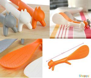 Лопатка для еды на ножках Белка оранжевая