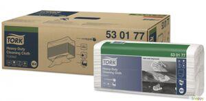 Нетканный материал повышенной прочности в салфетках, 1 сл, 60 листов, 38.5*64.2 см, W4 (Tork), белый