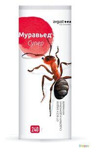 Муравьед  супер 240 г.  Новый препарат в гранулах от всех видов садовых и домовых рыжих муравьев.