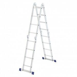 Производитель не указан Лестница шарнирная алюминиевая, 4х4, Россия// Сибртех (рабочая высота 5.15 м)