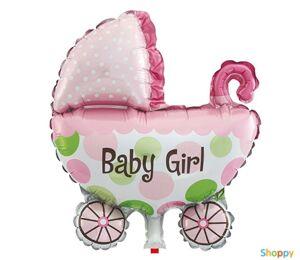 Шар на рождение малышки Коляска