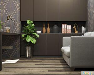 ПВХ Плитка Stone Floor SPC Дуб Брауни коричневый 1519-8 НР