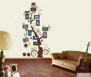 Настенный стикер Дерево путешествий