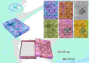 Подарочная коробка: Цветы для ювелирных изделий, цветная /ассорти/, с атласным бантиком; размер 12