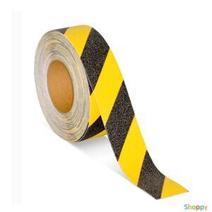 Лента Anti Slip Systems стандартной зернистости (80 grit), цвет черно/жёлтая диагональ, ширина  50 мм