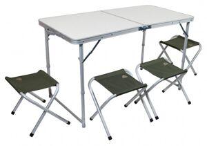 162650 Набор стол+4 стула TREK PLANET Event Set 120 Green