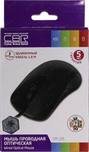 Мышь CBR CM 105 Black USB, Мышь, оптика, 1200dpi, офисн