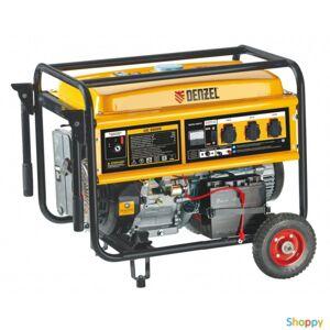 Denzel Генератор бензиновый GE 8900, 8,5 кВт, 220В/50Гц, 25 л, ручной стартер // Denzel