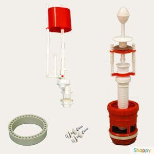 Производитель не указан Арматура д/бачка нижний подвод.с плоским клапаном АС-6.1(пласт. шток)