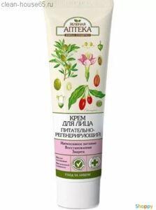 Зеленая АПТЕКА Крем для лица питательно-регенерир. (оливковое масло, компл.витаминов А+Е+F) 100мл, шт